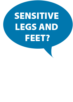 sensitive legs and feet