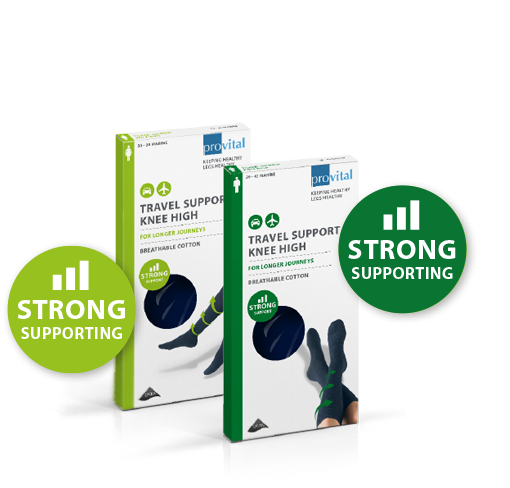 provital travel support knee high strong supporting
